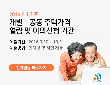2016. 6. 1. 기준 개별,공동주택 가격 열람 안내