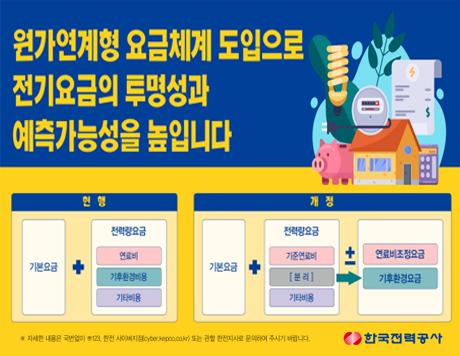 한국전력공사 원가연계형 요금체계 도입